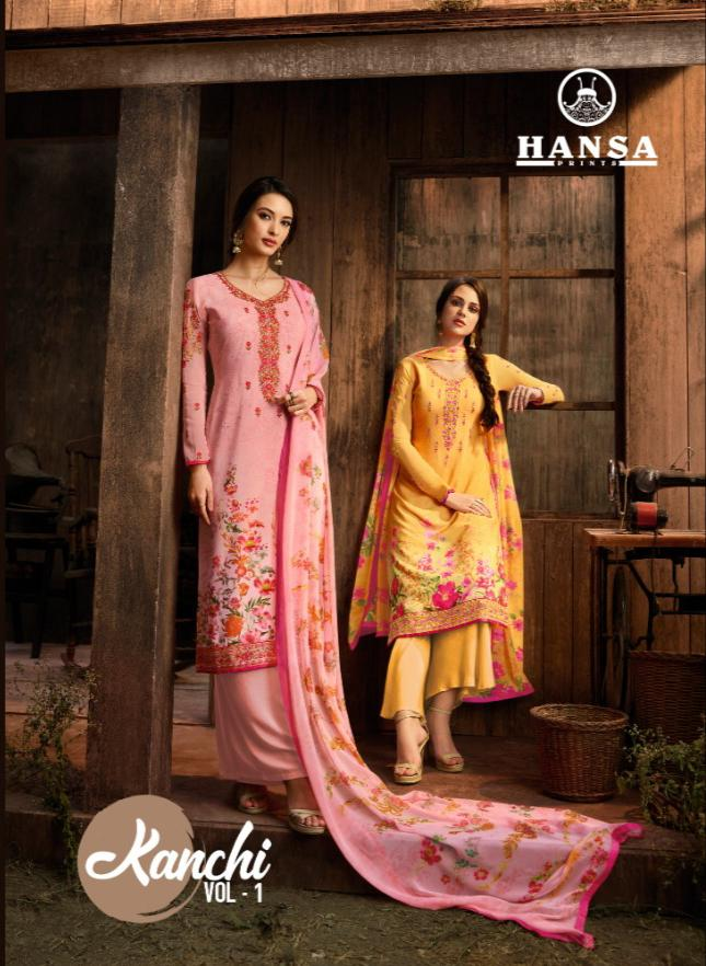 Hansa Kanchi Vol 1 Designer Suits In Cheapest Wholesale Rate