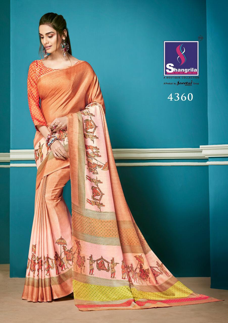 Shangrila Meesho Designer Silky Sarees Wholesale