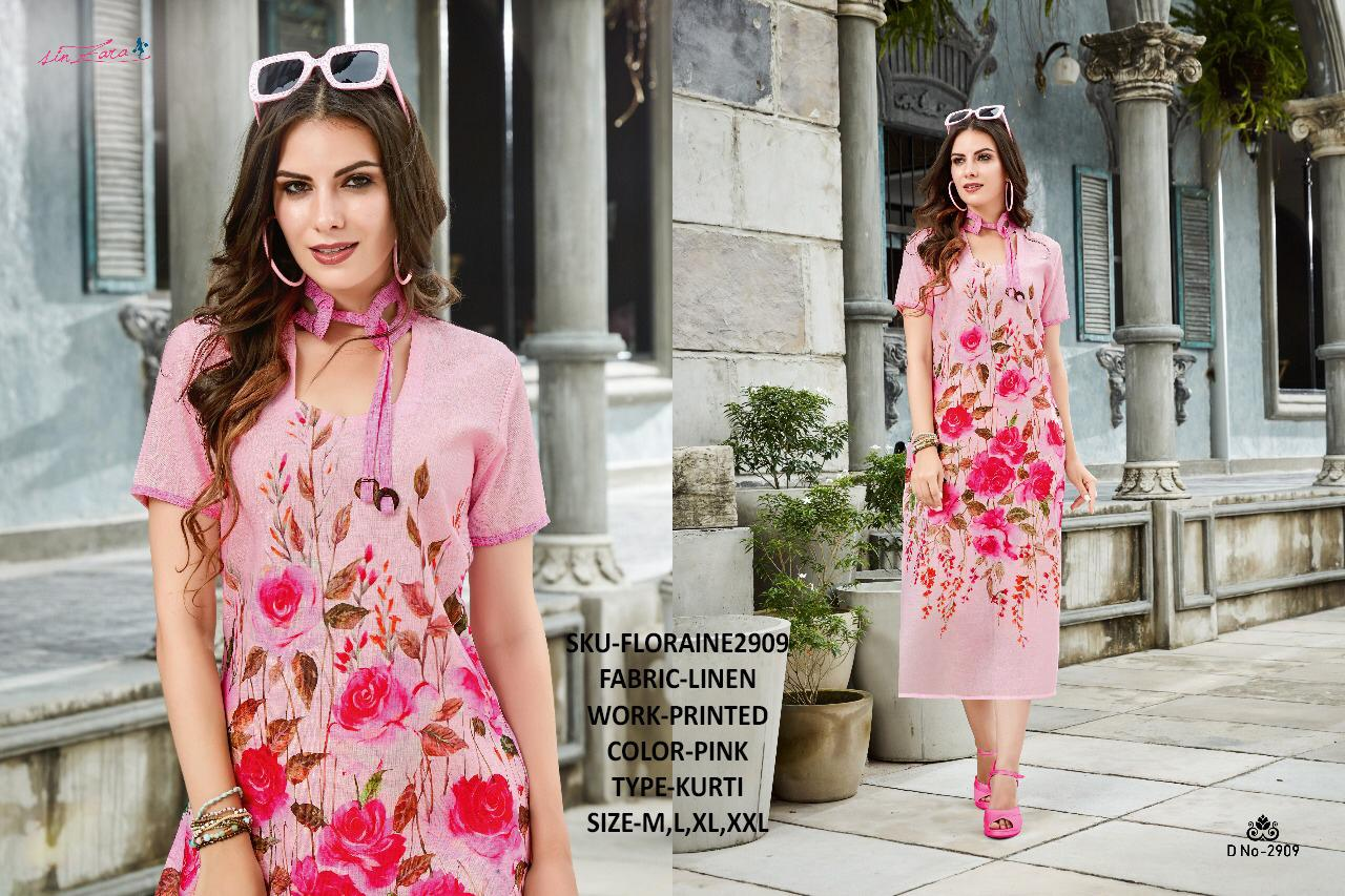 Sinzara Floraine Designer Linen Kurtis Best Wholesale Rate