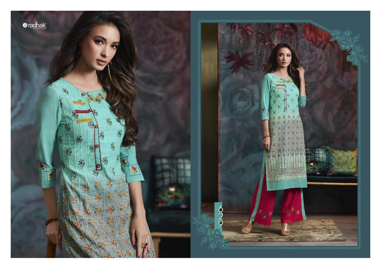 Radhak Maanaa Vol 6 Designer Kurti With Plazzo Wholesale