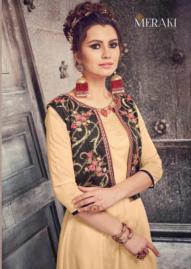 Merakhi Sapphire Designer Gown With Koti & Dupatta Wholesale