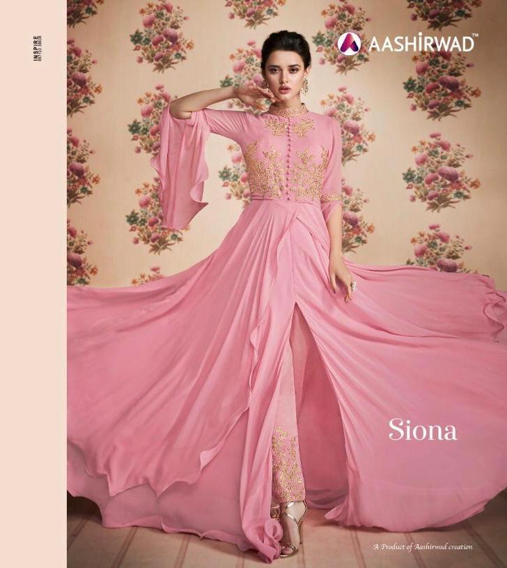 Aashirwad Siona Real Georgette Designer Suits Wholesale