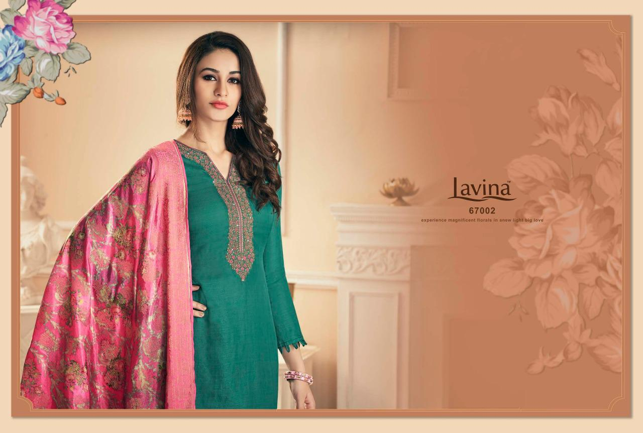 Lavina Vol 67 Designer Silk Embroidary Suits In Wholesale