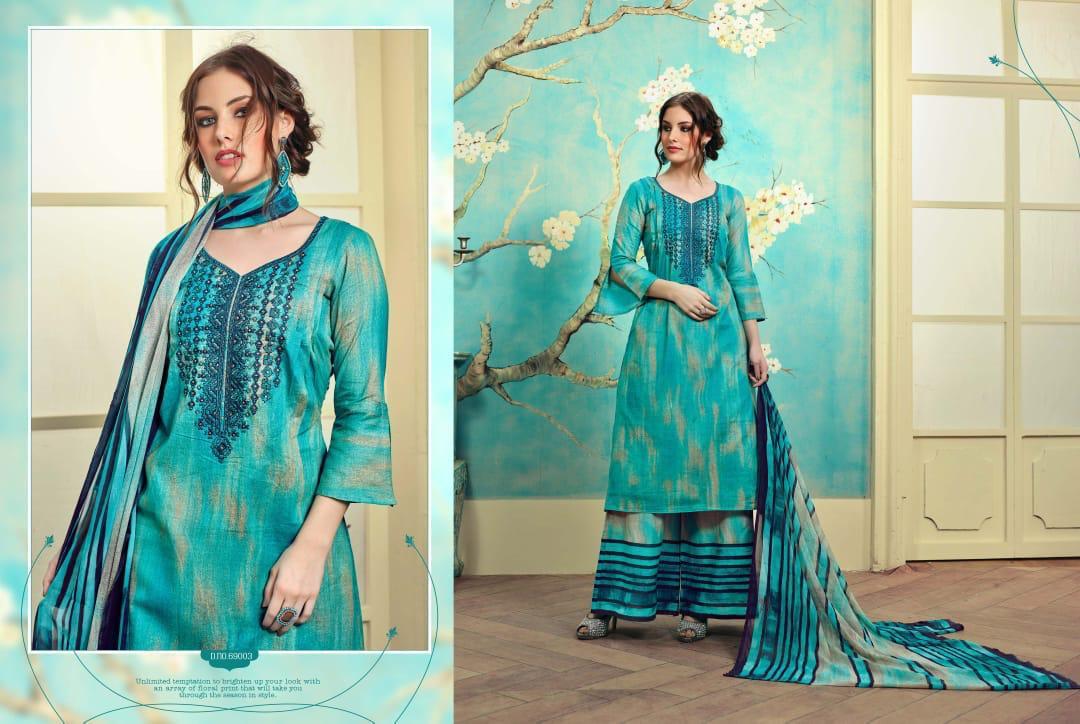 Sargam Prints Sumaira Cotton Printe With Work Suit Wholesale