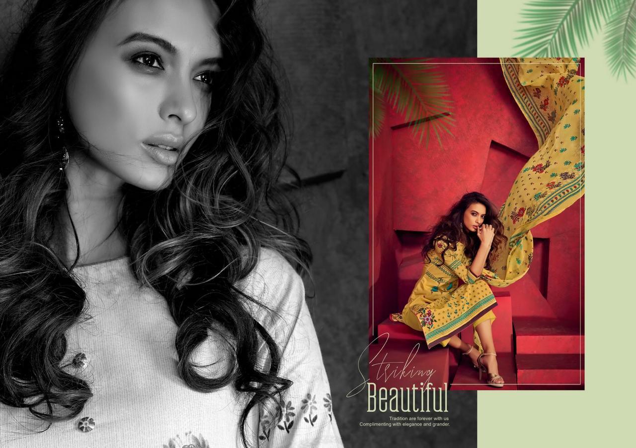 Karachi Prints Feel The Summer Lawn Cotton Suit Wholesale