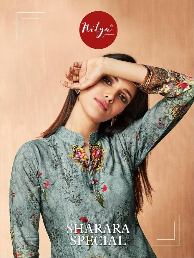 Lt Nitya Sharara Special Designer Top With Sharara Wholesale