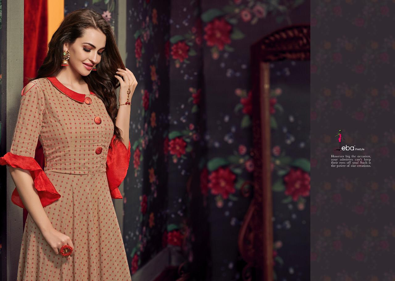 Eba Lifestyle Banaras Vol 3 Cotton Gown Dupatta Wholesale