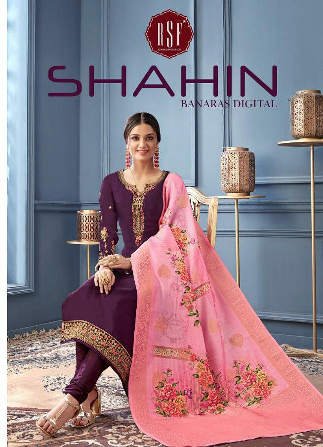 Rsf Shahin Designer Satin Georgett Suits Best Wholesale Rate