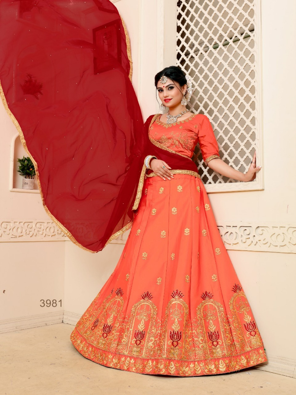 Sanskar Style Fame Designer Pure Satin Lehenga Wholesale Lot