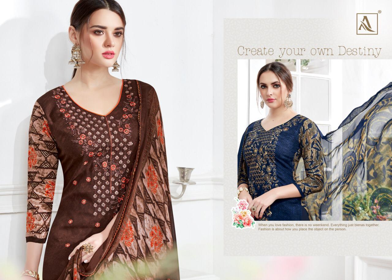 Alok Suit Amber Designer Patiyala Suit Collection Wholesale