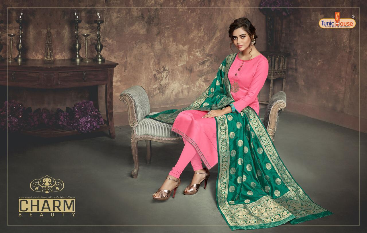 Tunic House Kaalista  Embroidary Wit Handwork Suit Wholesale