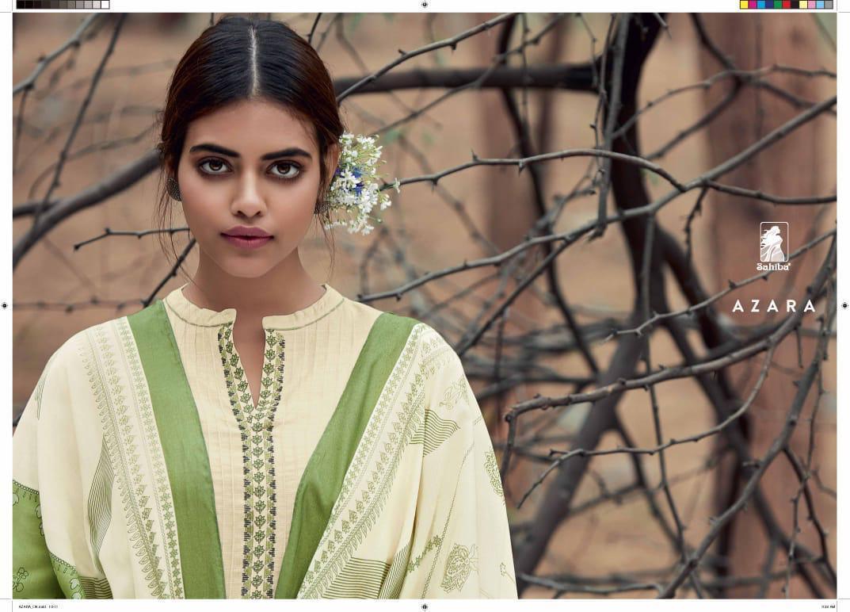 Sahiba Azara Designer Print Embroidary Work Suit Wholesale.
