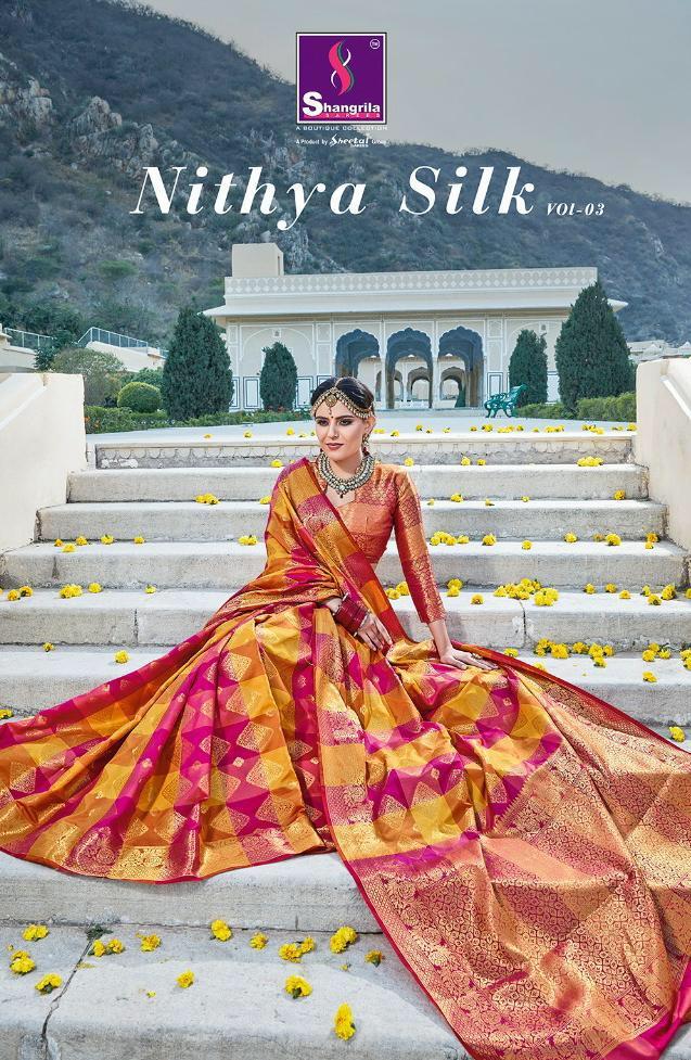 Shangrila Nitya Silk Designer Multicolor Sarees Wholesale