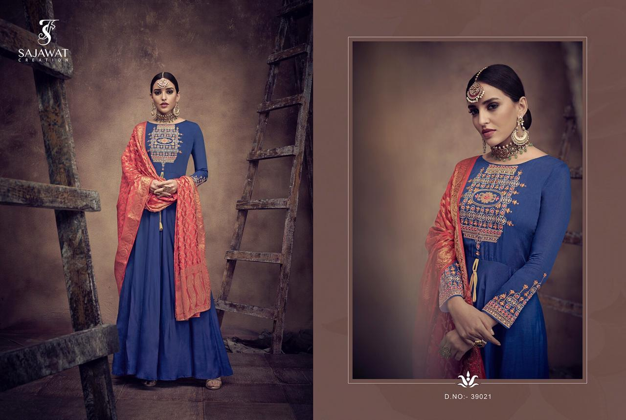 Sajawat Creation Bride Vol-4 Gown With Duppata Wholsale