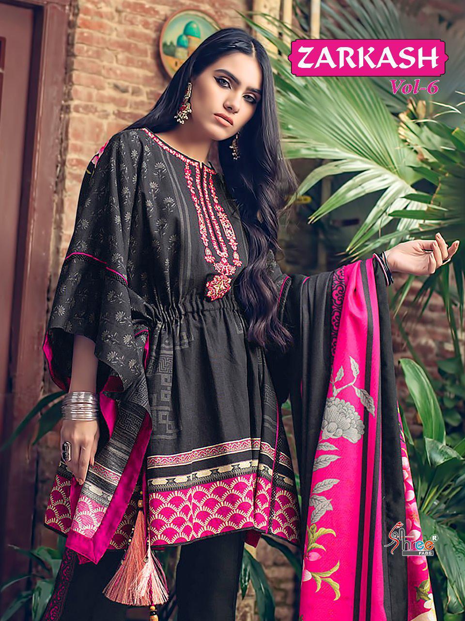 Shree Fab Zarkash Vol 6 Designer Cotton Print Suit Wholesale