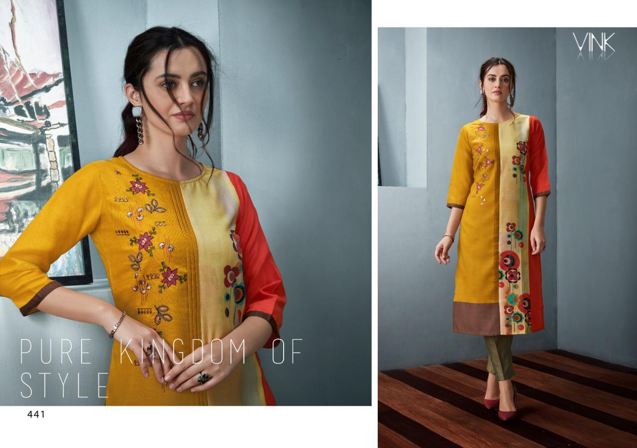 Vink Nova2 Linen Cotton With Rayon Digital Print Suits Who