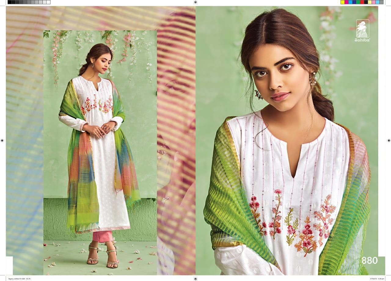 Sahiba Legacy Top Cotton Jari With Embroidery Suits Wholse