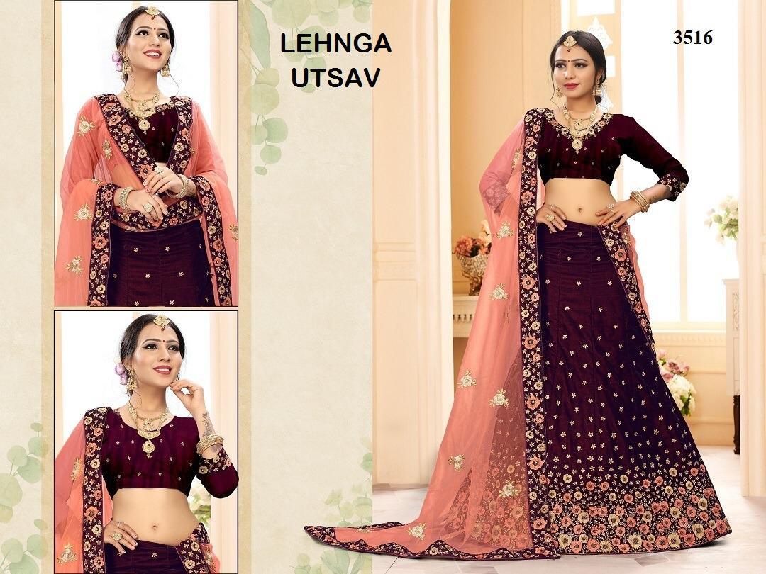Lehanga Utsav Velvet  New Desinger Wedding Lehanga Wholsale