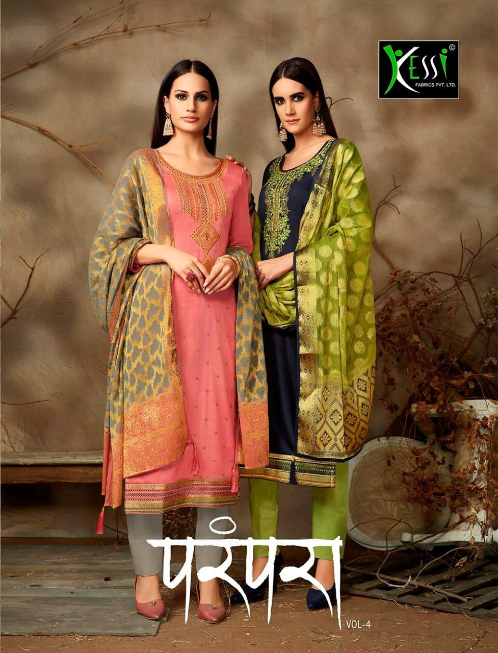 Kessi Fabric Parampara Vol4 New Fancy Suits Wholsale