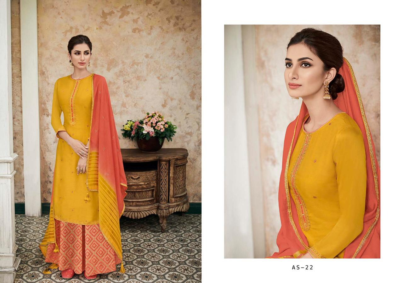 Varsha Fashion Heavy Silk Stain & Embroidery Suits Wholsale