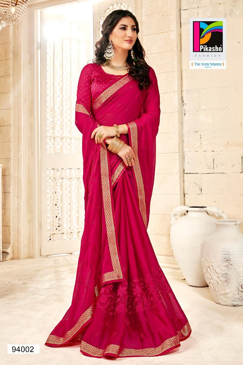 Pikasho Fashion Sushmita New Fancy Saree Wholsale