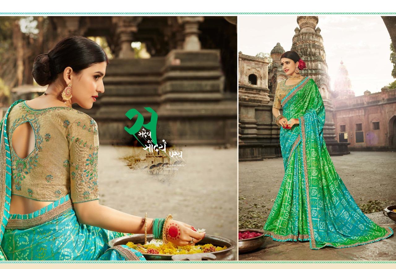 Kessi Bandhej Vol9 New Embroidery Prints Saree Wholsale