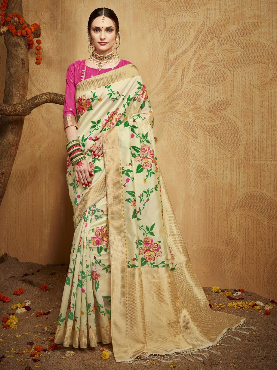 Kesar Silk Style Instant Kanchipuram Saree Wholsale