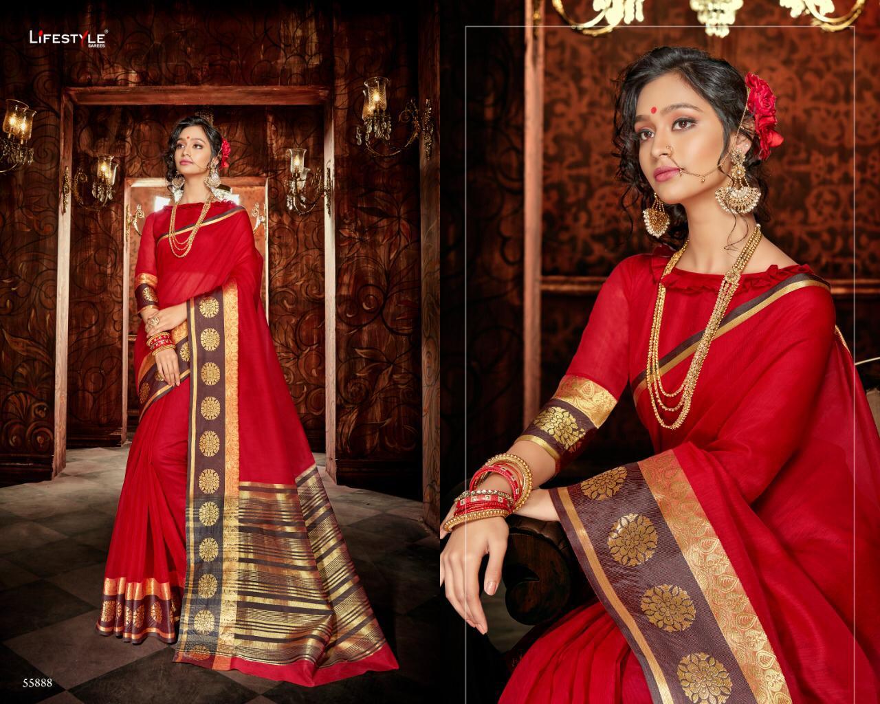 Lifestyle Khadi Silk Vol18 New Desinger Saree Wholsale