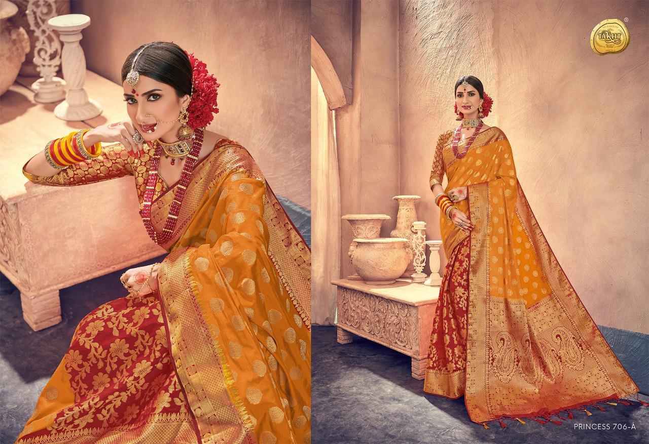Raj Sanskar Princess Banarsi Style Silk Saree Wholsale