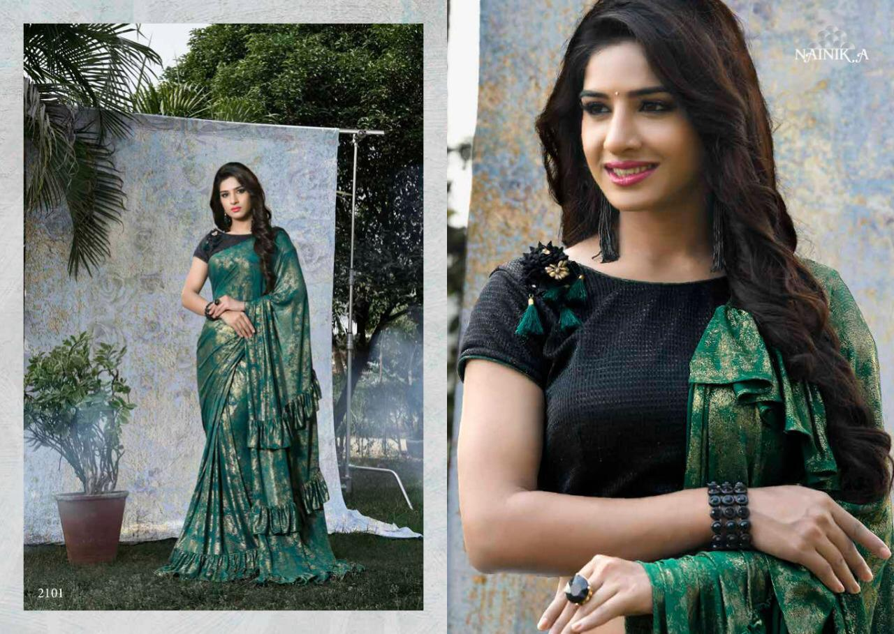 Nainik.a New Stylist With Designer Saree Wholsale