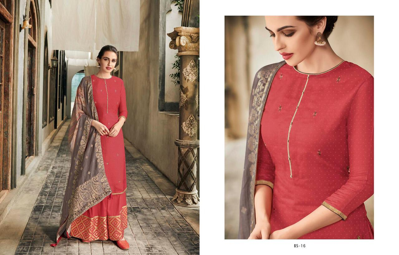 Varsha Fashion The Bright Side Banaras Silk Suits Wholsale