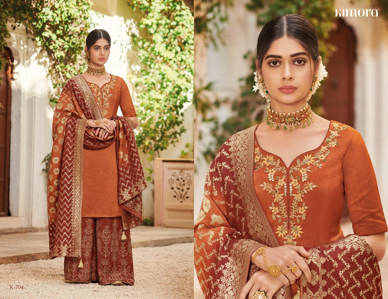 Kimora Vol7 Pure Silk With Embroidery Suits Wholsale