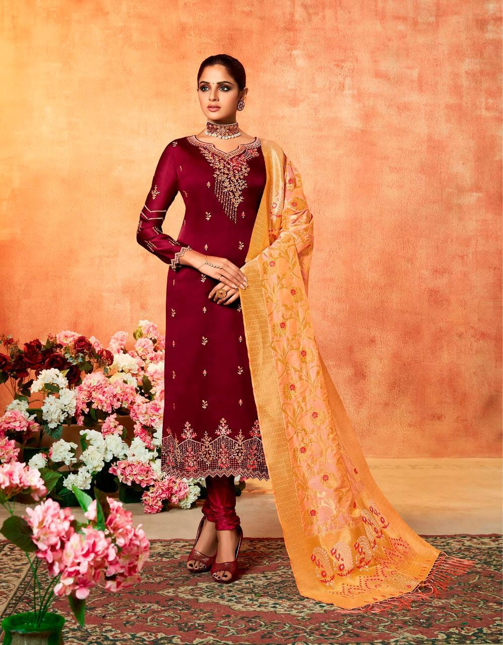 Kessi Fabric Swayamvar Designer Embroidery Suits Wholsale
