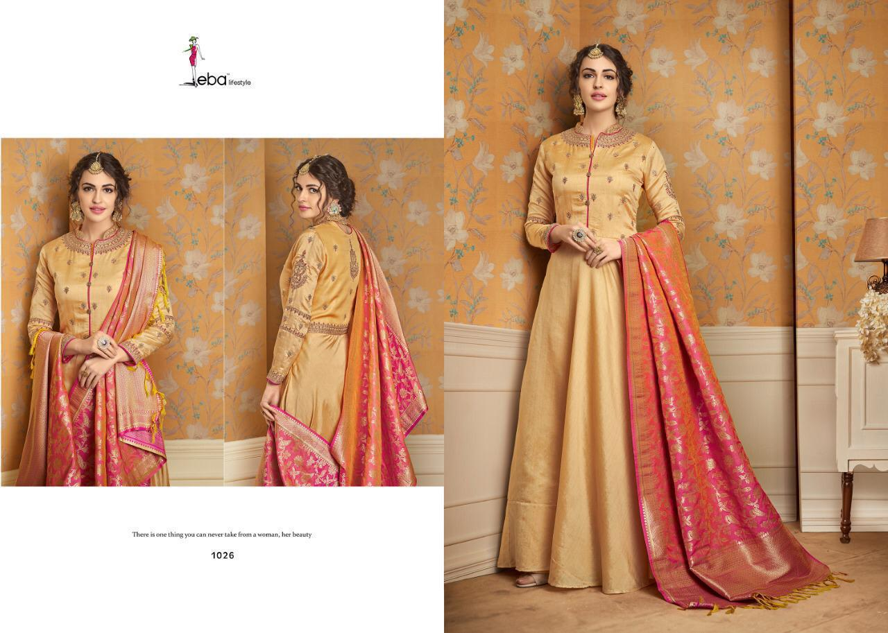 Eba Lifestyle Banaras Vol1 Heavy Designer Wok Kurtis Wolsale