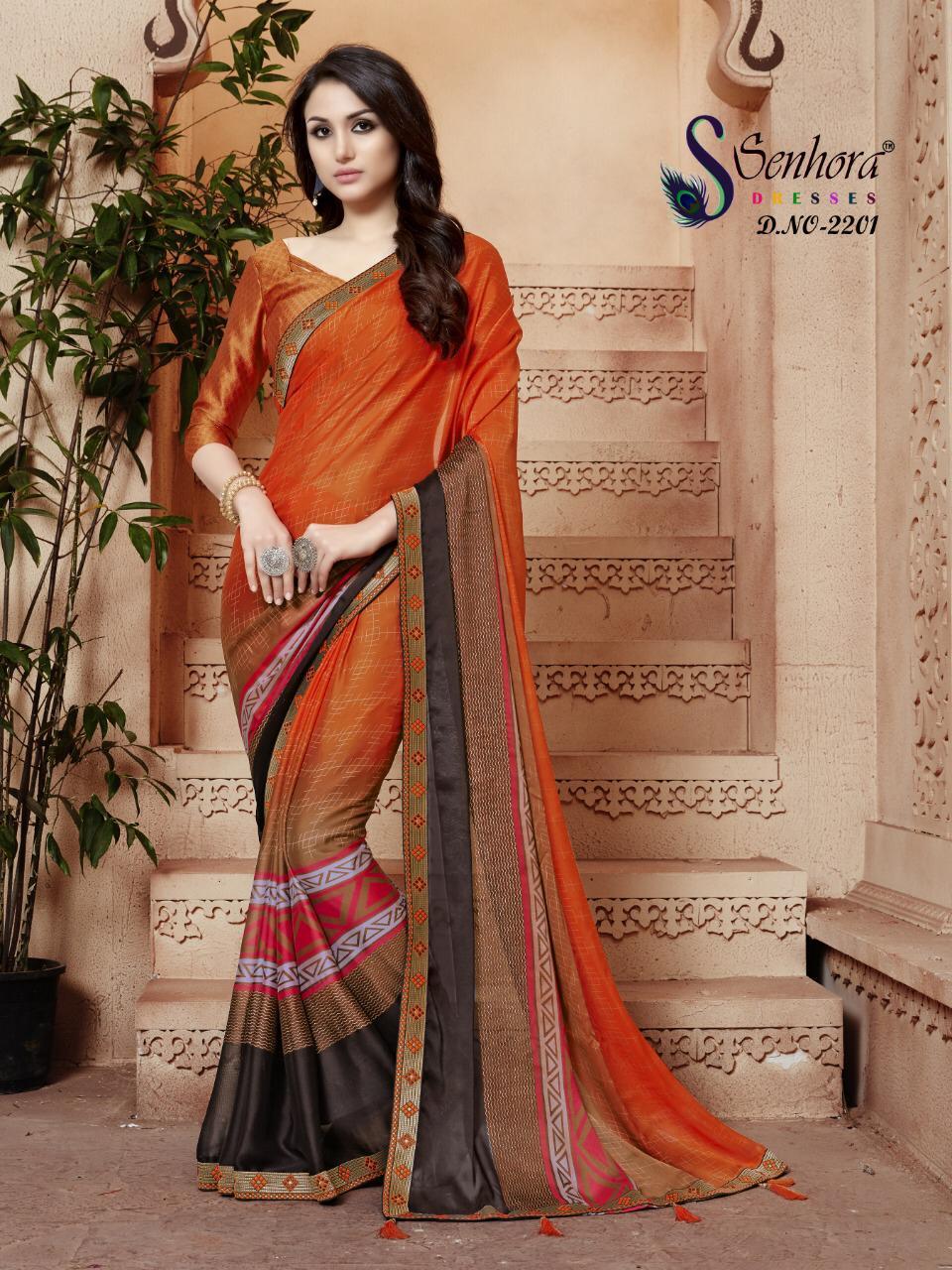 Senhora Dresses Leela Vol1 New Designer Saree Wholsale