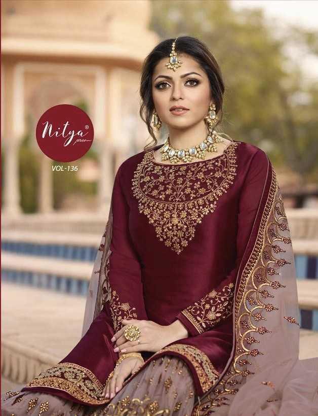 Lt Nitya Vol 136 Designer Wedding Wear Suits Wholesale