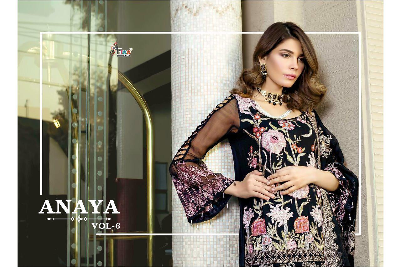 Shree Fab Anaya Vol 6 Designer Fox Georgette Suits Wholesale
