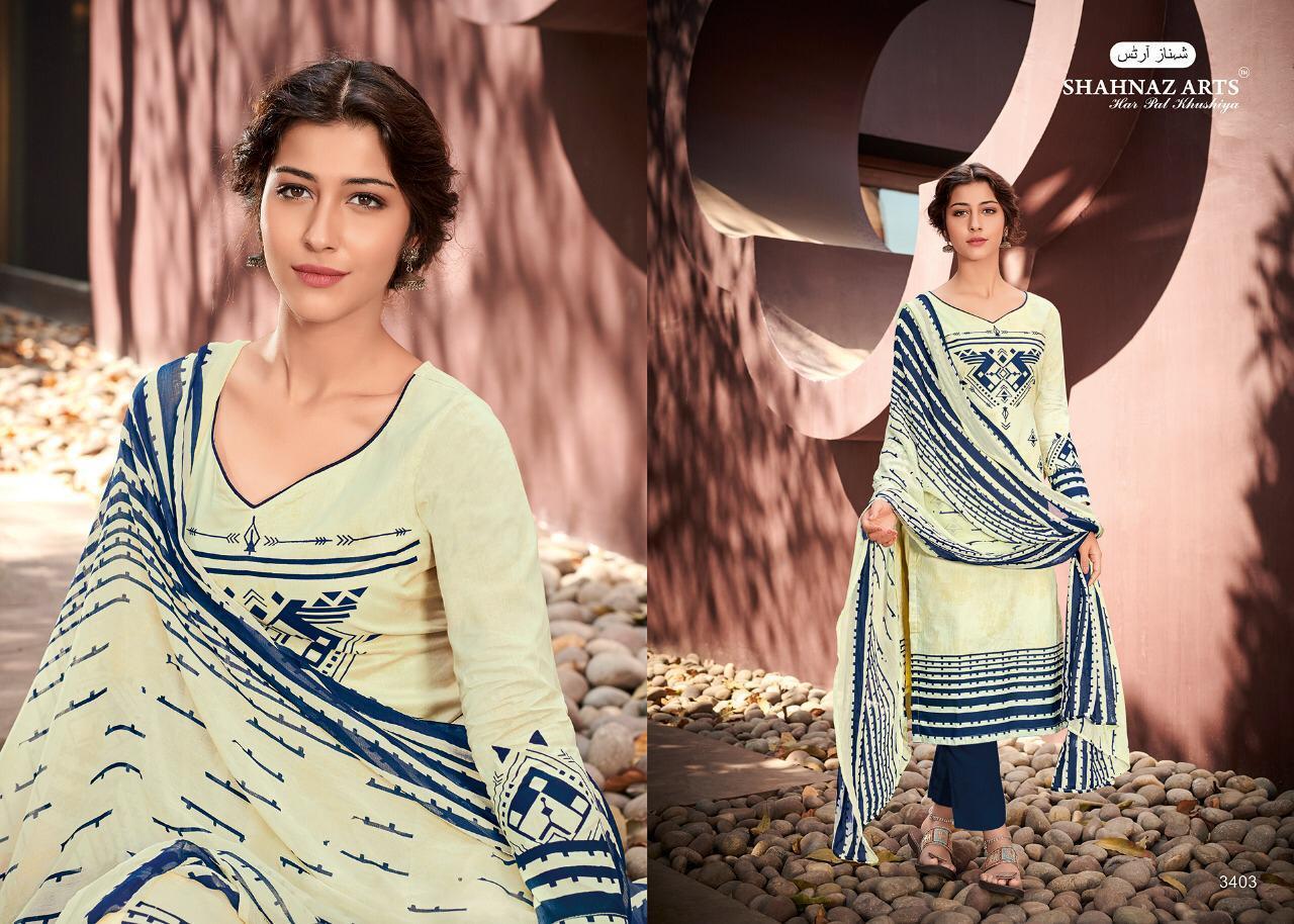 Shahnaz Arts Afsara Cotton Cambric Print Suit Wholesale