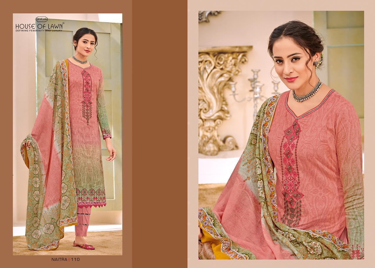 House Of Lawn Naitra Nx Designer Cotton Suit Wholesale