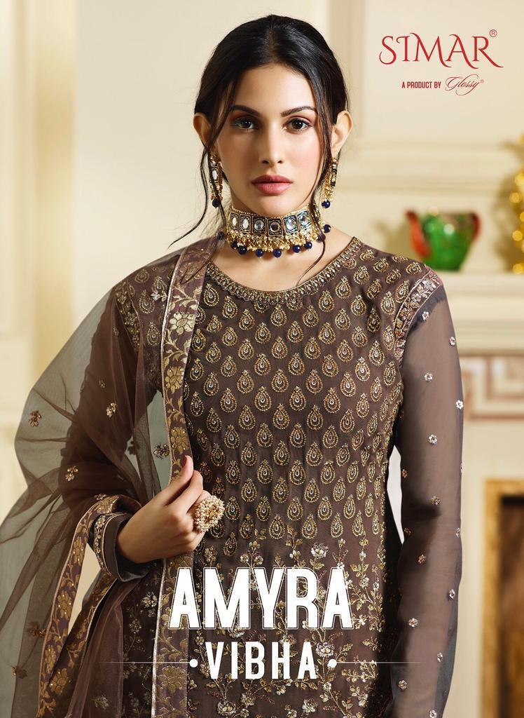 Glossy Amayra Vibha Designer Suits In Best Wholesale Rate