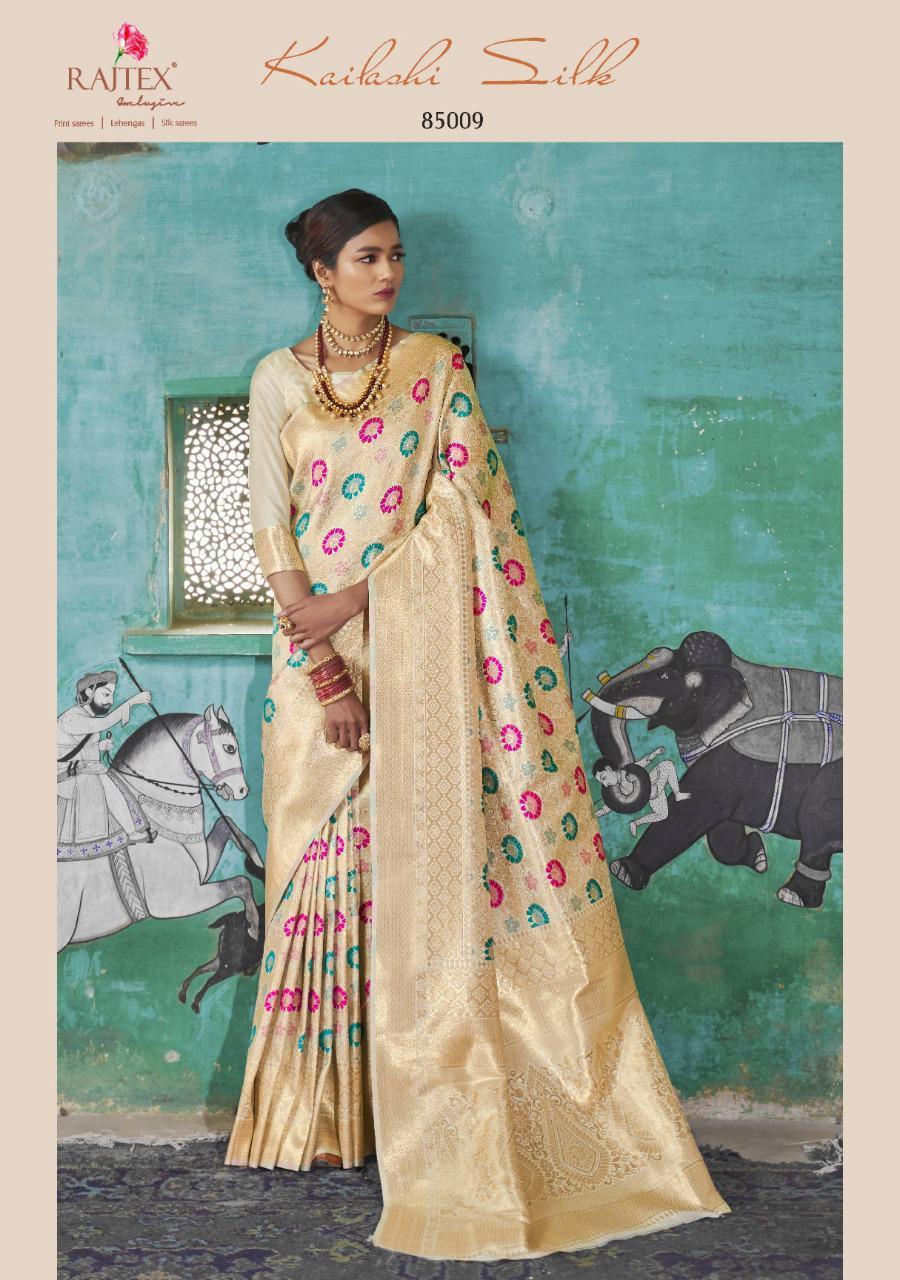Rajtex Kailashi Silk Designer Partywear Silk Saree Wholesale