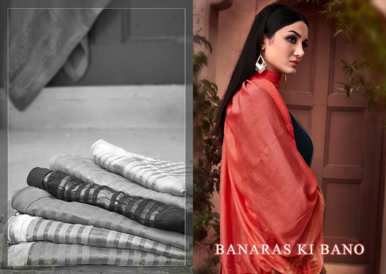Banaras Ki Banoo Designer Muslin Emb Suits Wholesale