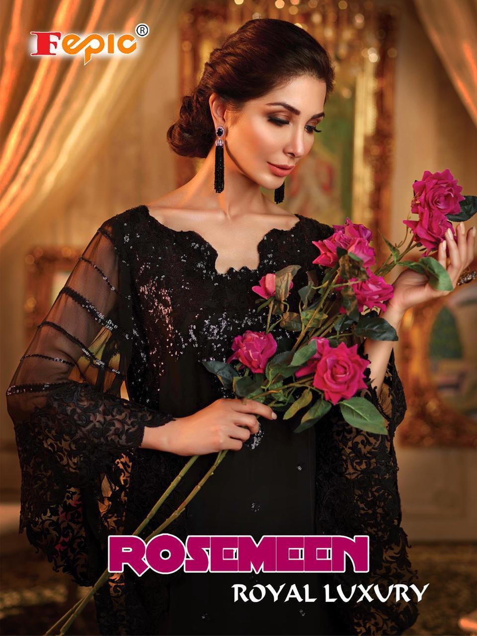 Fepic Rosemeen Royal Luxury Georgette Suits Wholesale