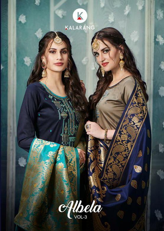 Kalarang Albela Vol 3 Designer Silk Suit Best Wholesale Rate