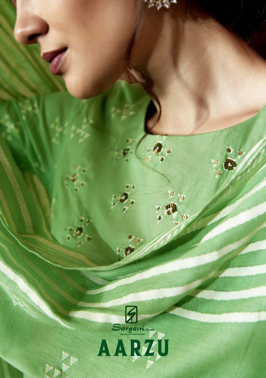 Sargam Prints Aarzu Designer Block Print Suits Wholesale