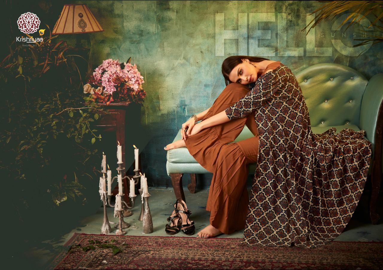 Krishriyaa Cover Story 2 Rayon Print Designe Kurti Wholesale