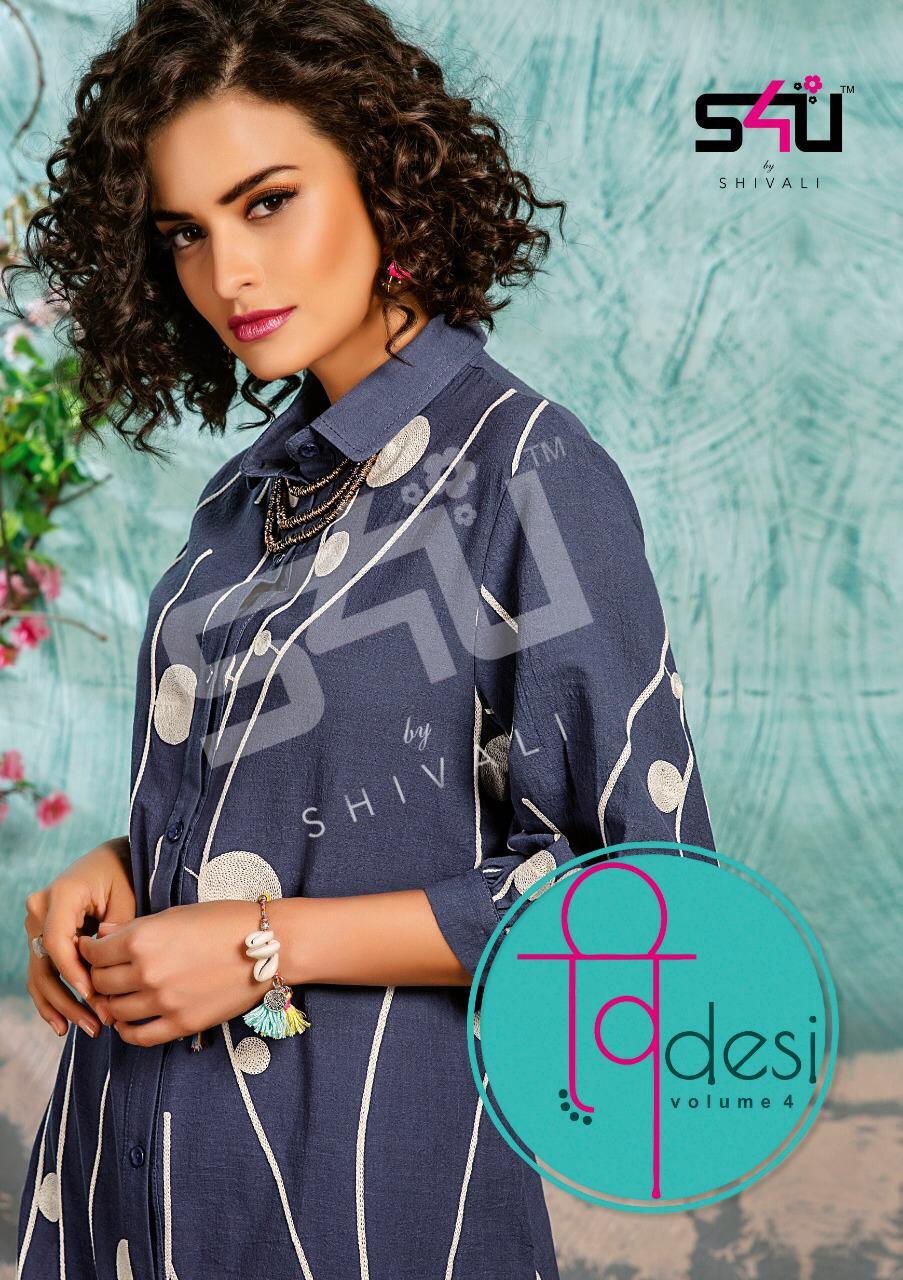 S4u Shivali Desi Vol 4 Designer Summer Shirts Wholesale