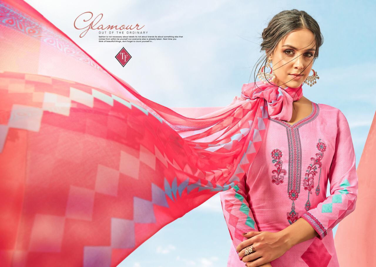 Tanishk Fashion Sayra Designer Lawn Cotton Suits Wholesale
