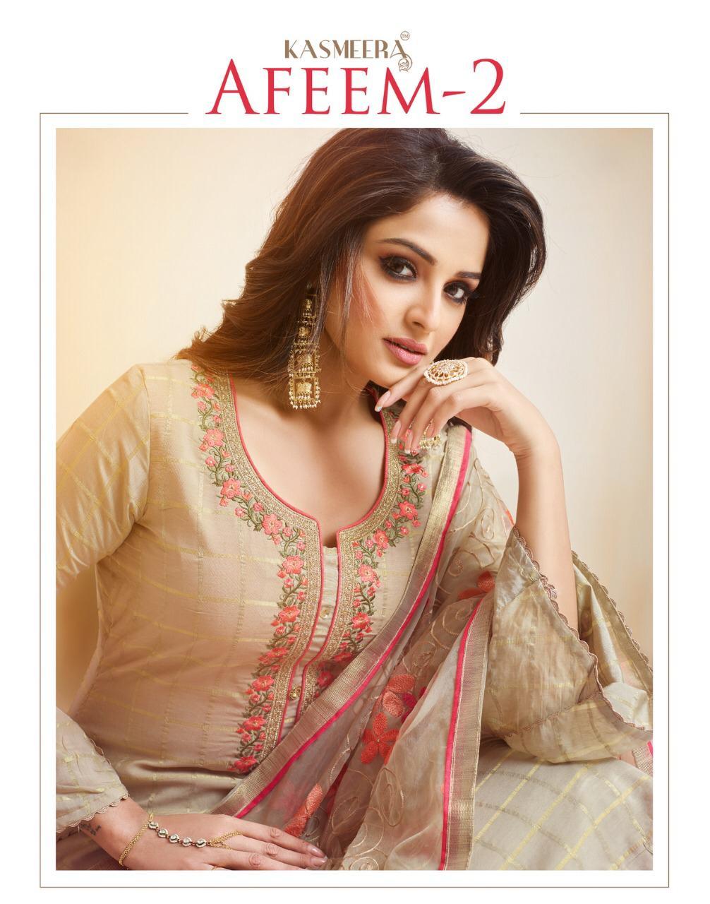 Kashmeera Afeem 2 Designer Fancy Fabric Suits Wholesale