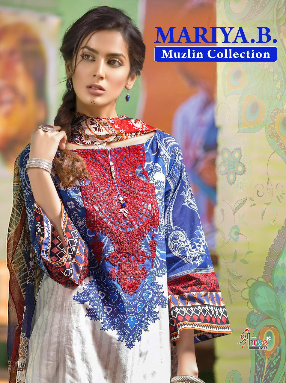 Maria B Muslin Collection Cotton With Emb Suits Wholesale